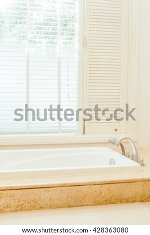 Bathtub decoration in bathroom interior - Vintage Light Filter