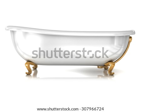 Bathtub isolated on white