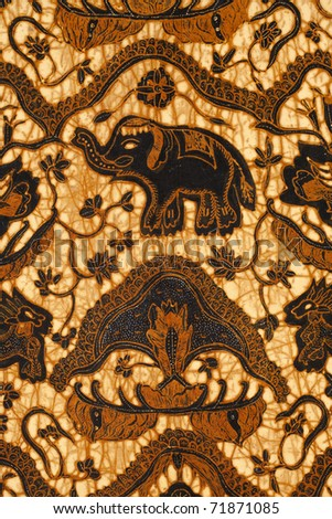 Batik design - stock photo