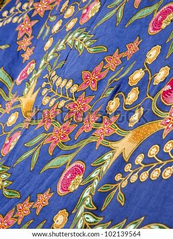 Batik design in Malaysian traditional concept. - stock photo