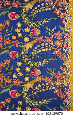 Batik design in Malaysian traditional concept. - stock photo