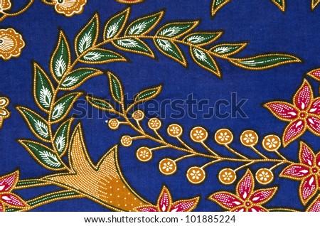 Batik pattern from traditional Malaysia. - stock photo