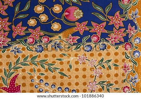 Batik patterns from Malaysia traditional. - stock photo