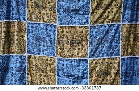 Batik print, background - stock photo