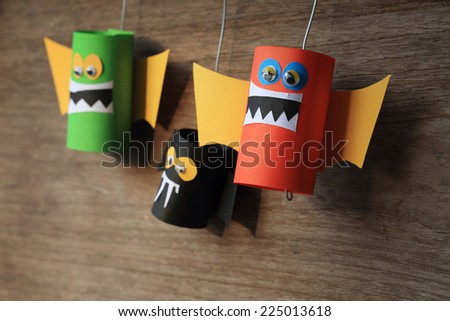 bats family of halloween - stock photo
