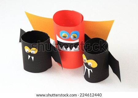 Bats of Halloween - stock photo
