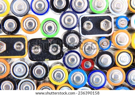 batteries background