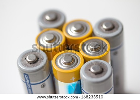 batteries isolated on white