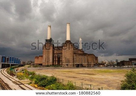 Battersea power station in London, UK