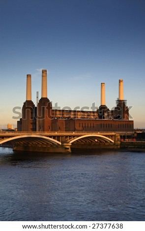 Battersea Power station - London - stock photo