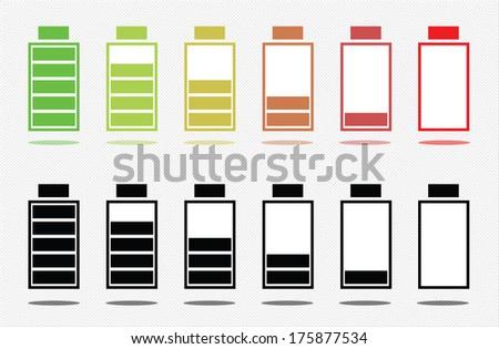 Battery charge status illustration, raster version. - stock photo