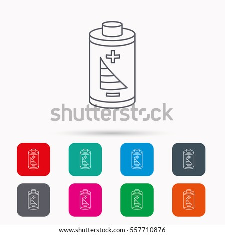 Battery Icon Electrical Power Sign Rechargeable Stock Illustration ...