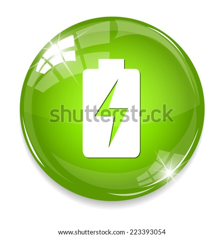 Battery icons - stock photo
