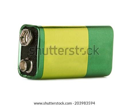 battery isolated on white background - stock photo