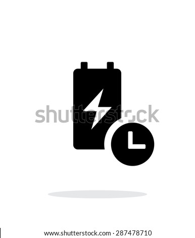 Battery life time simple icon on white background. - stock photo