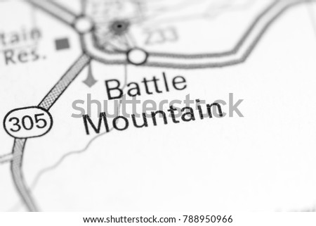 Battle Mountain Nevada USA On Map Stock Photo (Download Now ... on map of south mountain battle, battleground nevada, seismic map for nevada, unr campus map reno nevada, map of blackfoot idaho, wind resource map nevada, united states map on nevada, map carson sink nevada, map of rigby idaho, map of nevada mountain ranges,