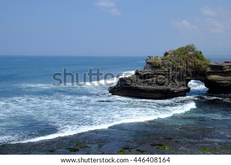 Batu bolong temple is a temple located near Thanalot temple in Bali, Indonesia.
