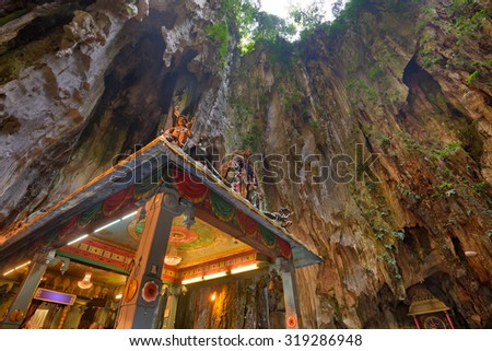 Batu Caves temple near Kuala Lumpur. - stock photo