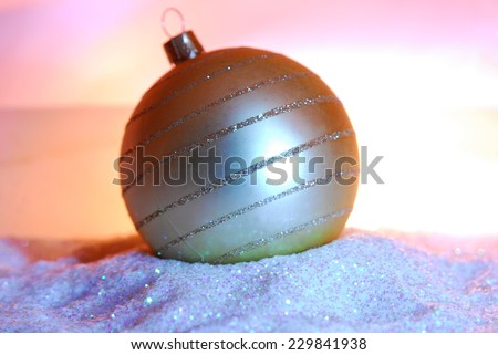 bauble with glitter  - stock photo