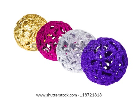 baubles for christmas firtree - stock photo