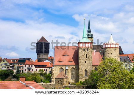 BAUTZEN, SAXONY, GERMANY - View of the medieval historical cityscape of Bautzen, Saxony, Germany.