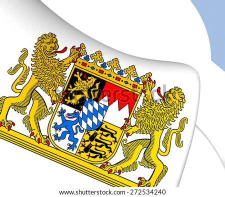 Bavaria Coat of Arms, Germany. Close Up. - stock photo