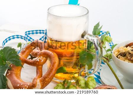 Bavarian beer - stock photo