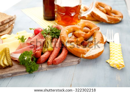 Bavarian Food - stock photo