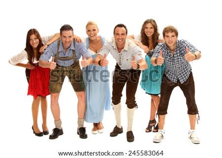 bavarian group - stock photo