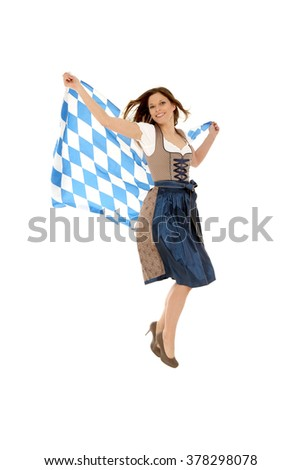 Bavarian Lady - stock photo