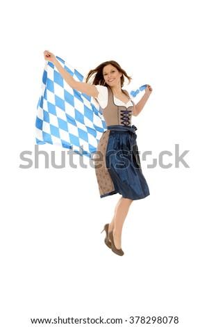 Bavarian Lady - stock photo