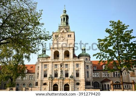 Bavarian National Museum in Munich Bavaria Germany - stock photo