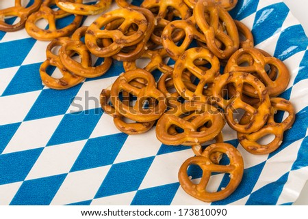 Bavarian Pretzels Traditional baked Food - stock photo