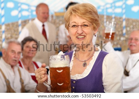 Bavarian woman - stock photo