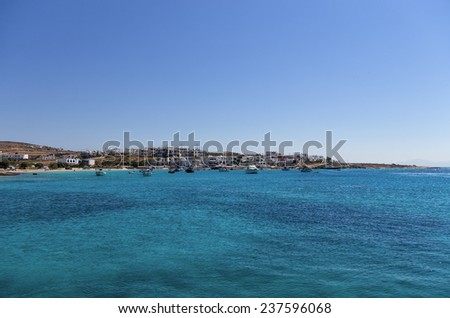 Bay and village in Ano Koufonisi island, Cyclades, Greece