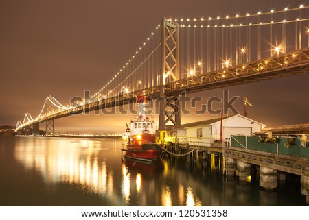 Bay Bridge at night , San Francisco