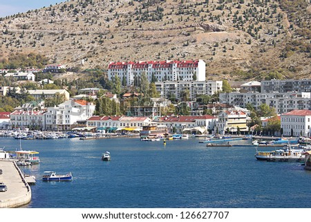 bay in Balaklava. Crimea.