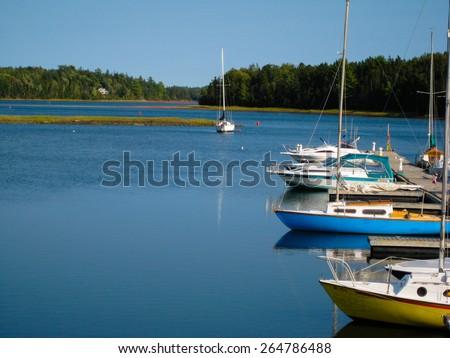 Bay in Prince Edward Island - PEI, Canada - stock photo