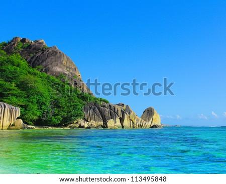 Bay Jungle Panorama - stock photo