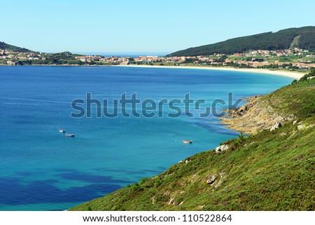 bay of fisterra galicia spain - stock photo
