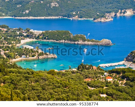 bay of Palaiokastritsa in Corfu, Greece