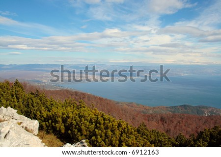 Bay of Rijeka, view from top of the hill