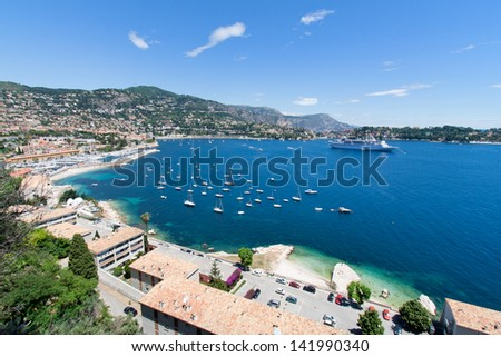 Bay on the Cote d'Azur in Southern France