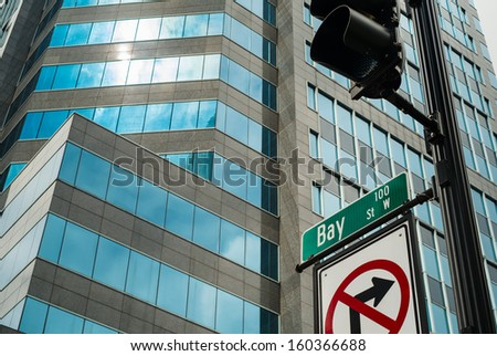 Bay street in downtown Jacksonville, Florida. - stock photo