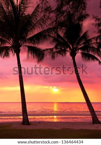 Bay View Evening Scene - stock photo