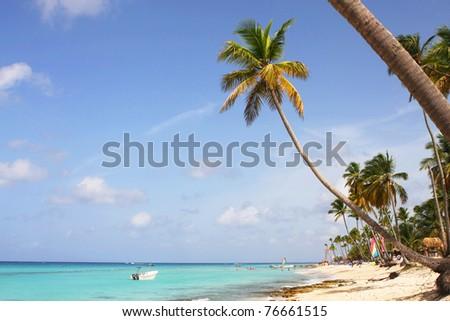 bayahibe beach at domenican republic - stock photo