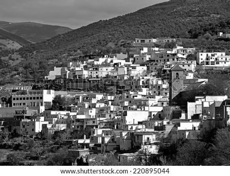 Bayarcal, small village in the Alpujarra, Andalusia - stock photo