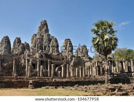 Bayon, Angkor Thom,Cambodia - stock photo