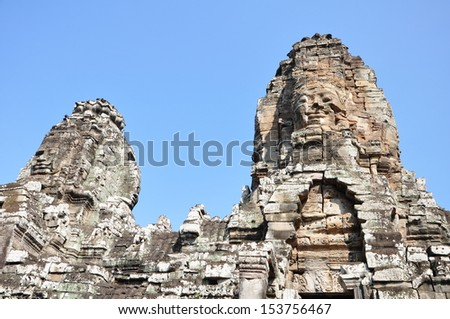 Bayon, Angkor Wat, Siem Reap, Cambodia, South East Asia.