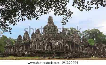Bayon Temple, Angkor Thom, Siem Reap, Cambodia. - stock photo